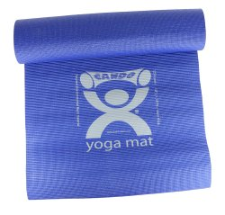 CanDo® Yoga Mat, 68 in. L x 24 in. W, Blue, Polymer Environmental Resin