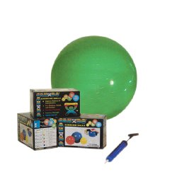 CanDo® Inflatable Exercise Ball Economy Set