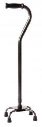 Carex® Offset Quad Cane, Steel, 28 - 37 in., Adjustable, Black