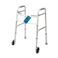 Carex® Dual-Button Walker with 5 Inch Wheels