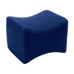 Carex Healthcare Knee Pillow , Memory Foam, 10.5 in. L x 7.75 in. W x 8 in. H, Navy