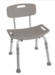 Drive™ Deluxe Aluminum Shower Chair with Removable Back