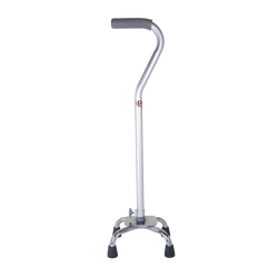 Carex® Small Base Offset Quad Cane, Silver