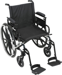 drive™ Viper Plus GT Lightweight Wheelchair with Flip Back, Padded, Removable Arm, Composite Mag Wheel, 18 in. Seat, Elevating Legrest, 300 lbs