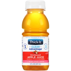 Thick-It®Clear Advantage® Ready to Use Thickened Beverage, 8 oz. Bottle, Apple