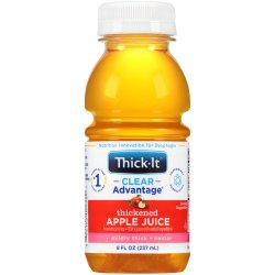 Thick-It® Clear Advantage® Nectar Consistency Apple Thickened Beverage, 8 oz. Bottle