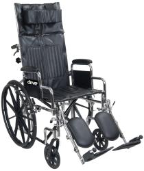 drive™ Chrome Sport Reclining Wheelchair