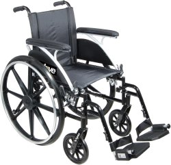 drive™ Viper Lightweight Wheelchair with Flip Back, Padded, Removable Arm, Composite Mag Wheel, 14 in. Seat, Swing-Away Elevating Legrest, 300 lbs