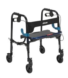 drive™ Clever-Lite Junior 4-Wheel Rolling Walker, Blue