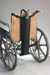 SkiL-Care™ Oxygen Tank Holder, For Use With 16 - 24 in. Wheelchairs, Nylon