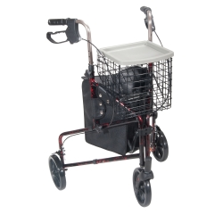 drive™ 3-Wheel Rollator, Red