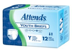 Attends® Youth Briefs