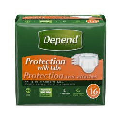 Kimberly-Clark Depend® Adult Heavy-Absorbent Incontinent Brief, Large/Extra-Large