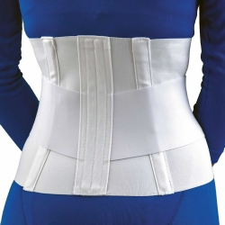 FLA Orthopedics® Lumbar Sacral Support with Overlapping Abdominal Belt, One Size Fits Most