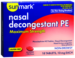 Sunmark® Allergy Relief and Nasal Decongestant Tablet