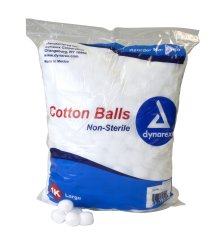 dynarex® Large Cotton Balls, 1,000-bag