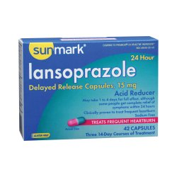 sunmark® Lansoprazole Antacid, 42 Delayed-Release Capsules per Box