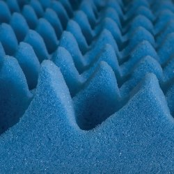 Mabis Convoluted Bed Pad, 33 X 72 X 3 in., Blue