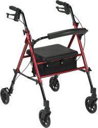 drive™ 4-Wheel Rollator, Blue