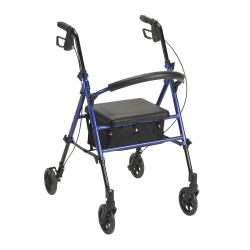 drive™ 4-Wheel Rollator, Blue
