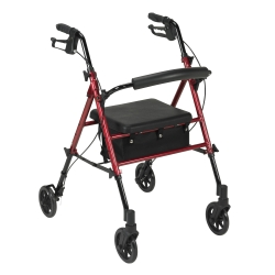 drive™ 4-Wheel Rollator, Red