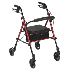 drive™ 4-Wheel Rollator, Red