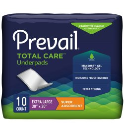 Prevail® Total Care™ Super Absorbent Polymer Underpad, 30 x 30 Inch