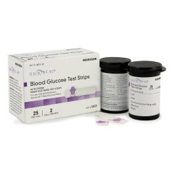 Quintet AC® Blood Glucose Test Strips, 50 per Box