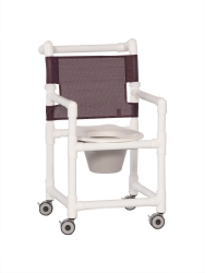 IPU Shower Chair Commode, Plum, 300 lbs. Capacity