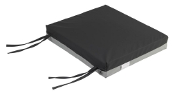 Gel-U-Seat™ Seat Cushion, 18 in. W x 16 in. D x 3 in. H, Gel / Foam, Black, Non-inflatable