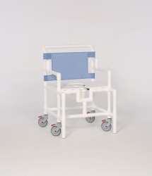 IPU Oversize Commode / Shower Chair, Wineberry, 450 lbs. Capacity