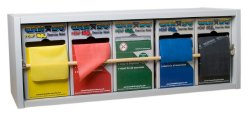 CanDo® Dispens-a-Band™ Rack with REP Band® Exercise Band Set