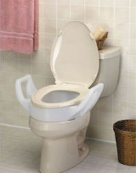 Maddak Elevated Toilet Seat with Arms