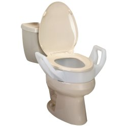 Bath Safe™ Elongated Elevated Toilet Seat with Arms