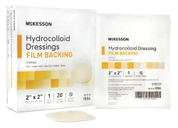 McKesson Square Sterile Hydrocolloid Dressing, 2 x 2 Inch, Light Beige
