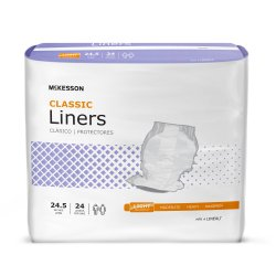 McKesson Lite Adult Disposable Light-Absorbent Incontinence Liner, 24-1/2 Inch Length
