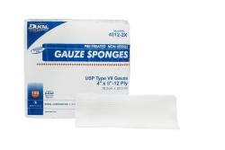 Dukal Rectangular Nonsterile 12-Ply USP Type VII Cotton Gauze X-Ray-Detectable Sponge, 8 x 4 in., 100-Pack