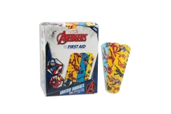 American® White Cross Stat Strip® Avengers Kid Design Adhesive Strip, ¾ x 3 Inch