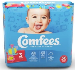 Comfees® Diaper, for Babies 16 - 28 lbs