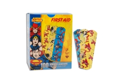 Stat Strip® Superman/Wonder Woman Kid Design Adhesive Strip, ¾ x 3 Inch