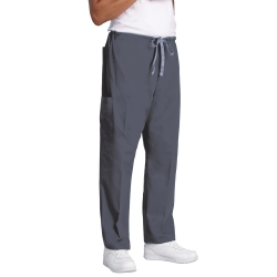 Drawstring Cargo Scrub Pants, Pewter