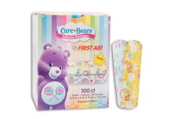 American® White Cross Stat Strip® Care Bears Kid Design Adhesive Strip, ¾ x 3 Inch