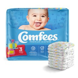 Comfees® Diaper with NonWoven Topsheet, Size 3, 36 per Package
