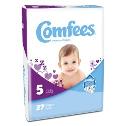 Comfees® Baby Moderate-Absorbent Diaper, Size 5, Kid Design