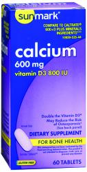 sunmark® Calcium with Vitamin D3 Supplement