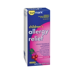 sunmark® Diphenhydramine HCl Children's Allergy Relief, 8 oz. Bottle