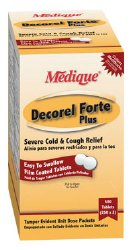 Decorel Forte Plus Cold and Cough Relief, 2 per Pack Tablet