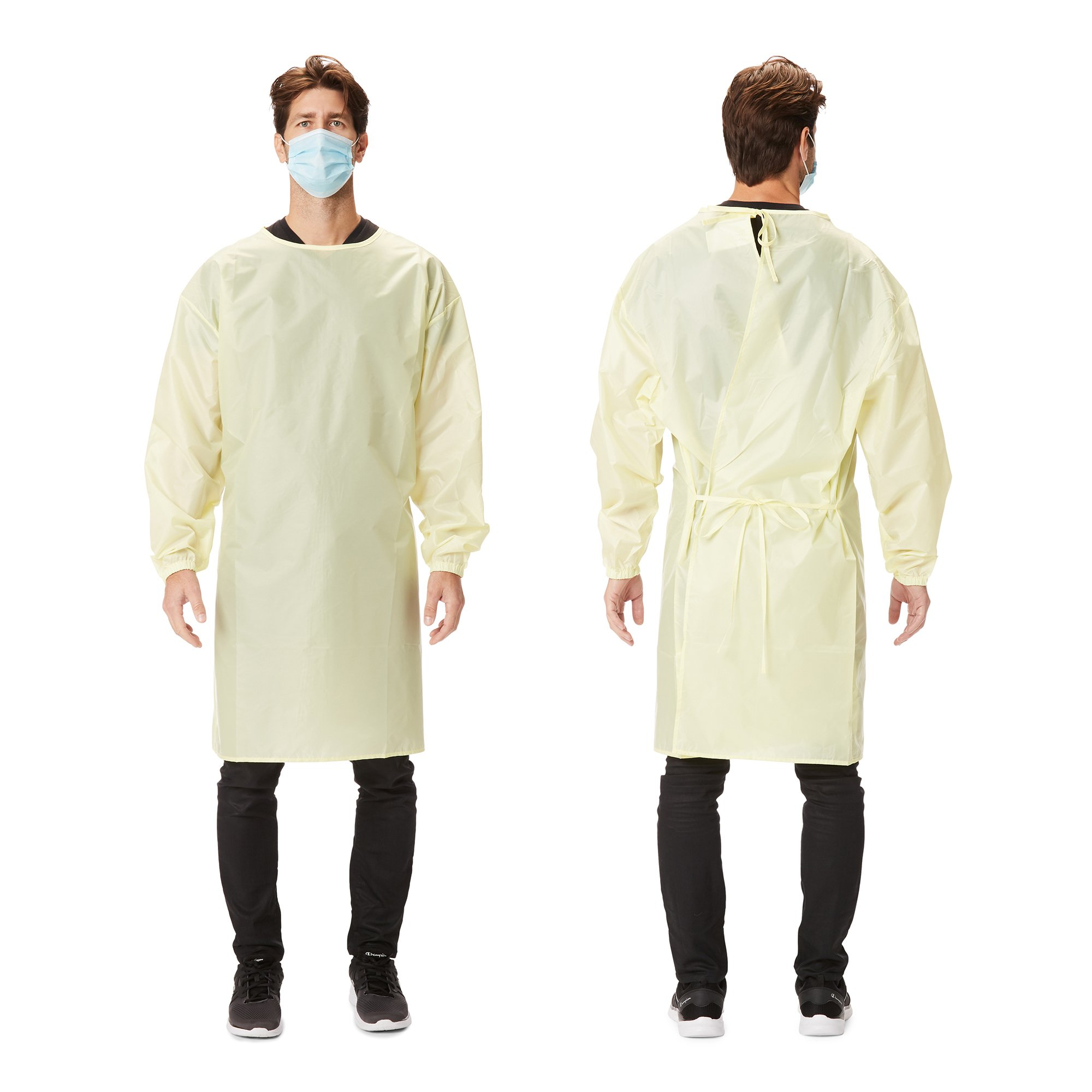 Picture of Protective Procedure Gown 2X-Large / 3X-Large Yellow NonSterile AAMI Level 1 Reusable, 50 per Case