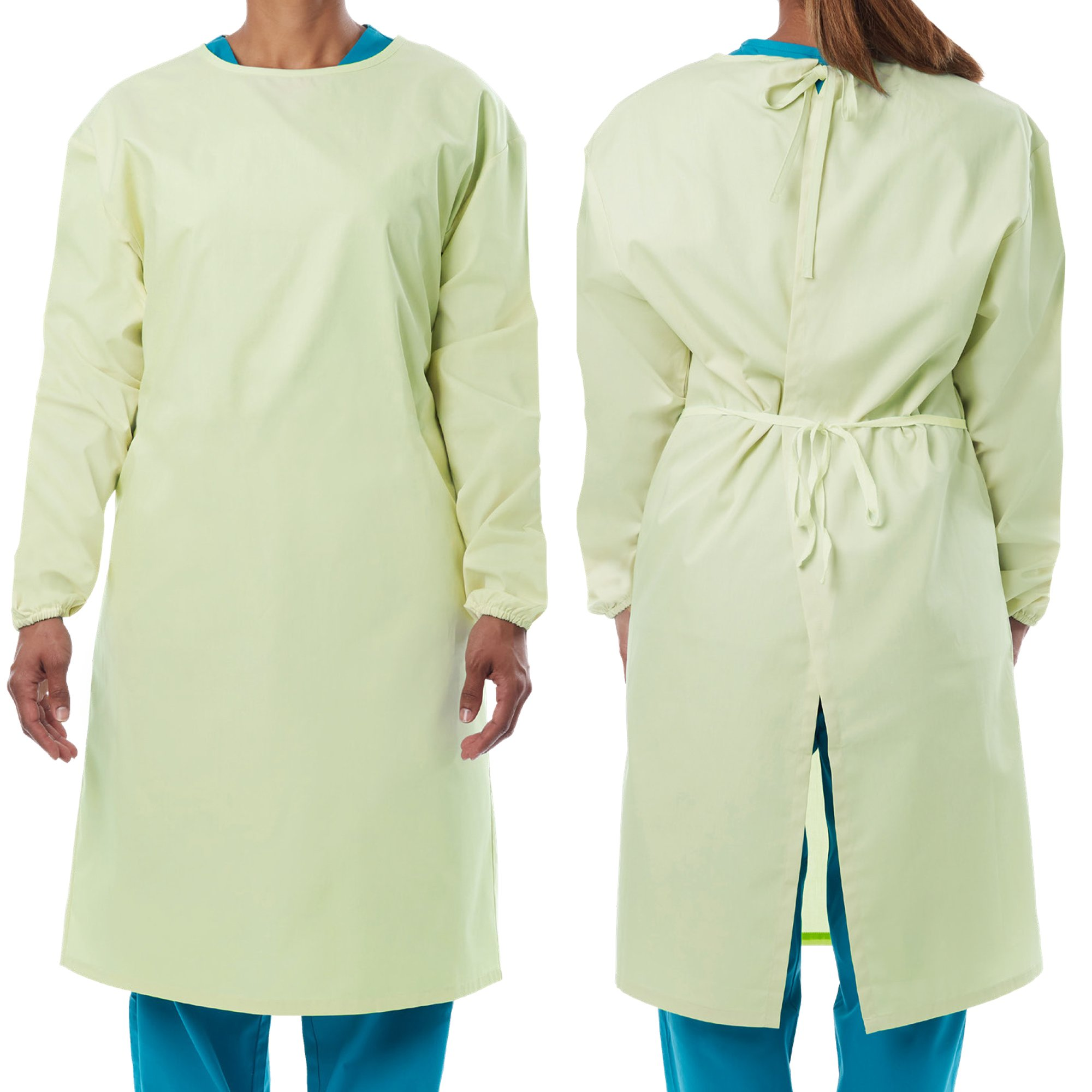 Picture of Protective Procedure Gown Small / Medium Yellow NonSterile AAMI Level 1 Reusable, 50 per Case